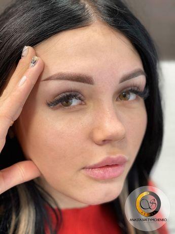 !Акция!Перманентый макияж бровей всего за 499 грн