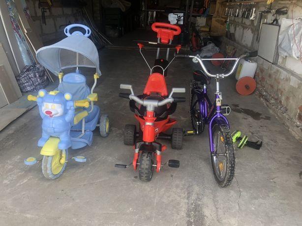 Детские велосипеды трех колесные бу