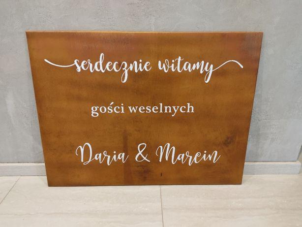 Tablica na wesele powitanie gości. Tablica powitalna