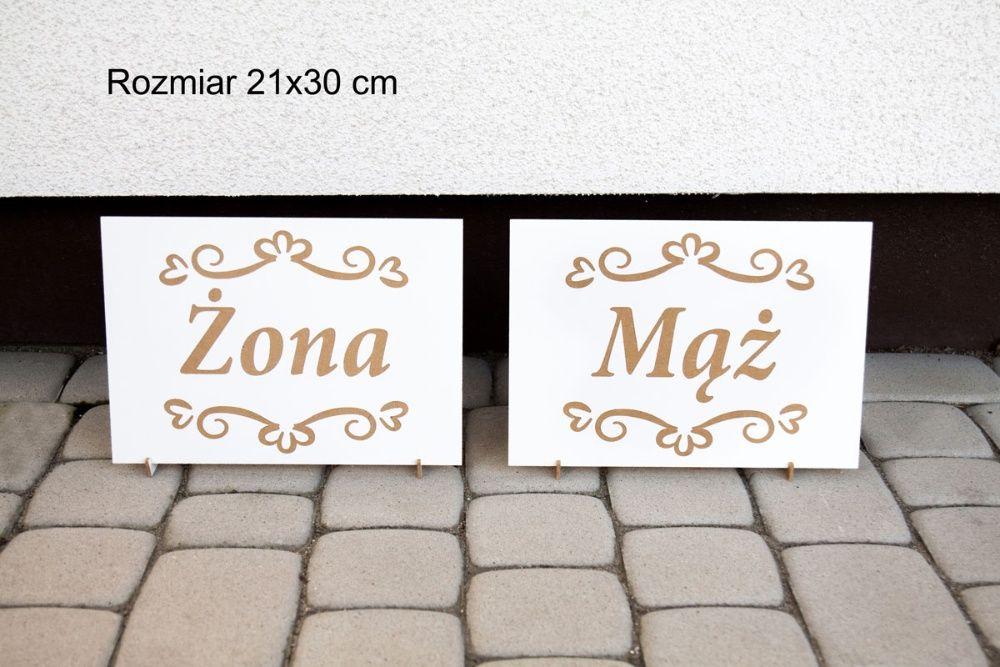 Tabliczki 21x30 cm Mąż Żona Młoda Para Księga Witamy Gości STOJAKI Jarocin - image 1