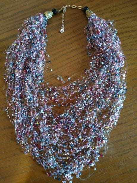 Воздушка ожерелье бисер