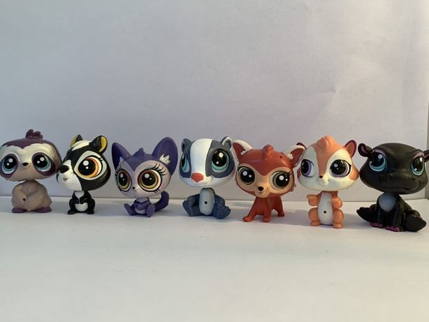 LPS Littlest Pet Shop - siedem różnych figurek do skanowania