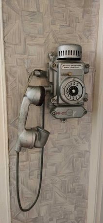Телефон настенный 70-х годов. Шахтный. В рабочем состоянии.