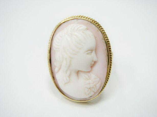 Комплект гемма золотой брошь-подвес и кольцо