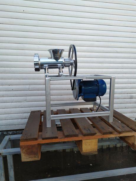 Электрическая мясорубка 32 алюминиевая промышленная для фарша 220в