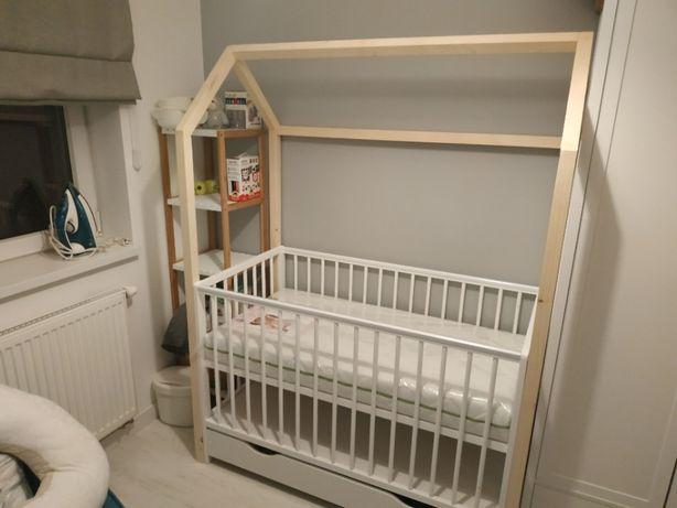 Stelaż dostawka domek do łóżka dziecego niemowlęcego