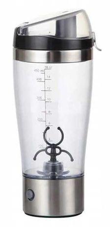 Shaker elektryczny Szejker Blender do odżywek koktajli 450ml 0,5l