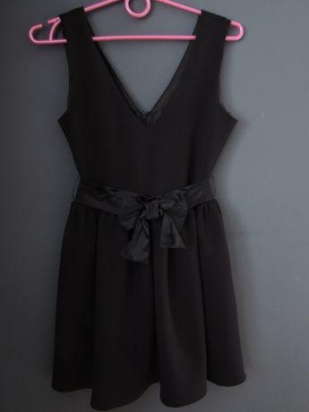 Sukieneczka sukienka, kokardka, czarna 152 cm