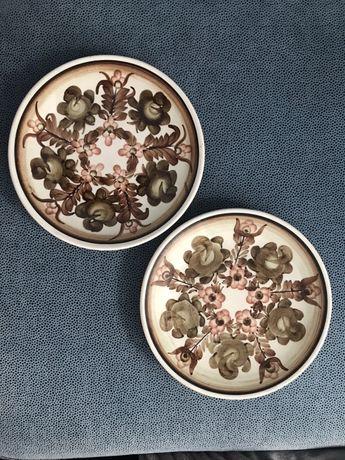 Ceramika Fajans Talerze ozdobne