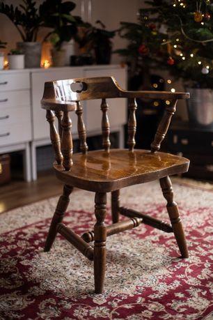 Stare drewniane krzesła Bonanza PRL retro vintage