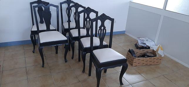 Queen anne cadeiras reparadas
