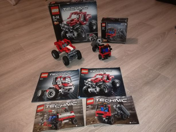 Lego Technic 8261 + 42084  4 Auta Monster Truck