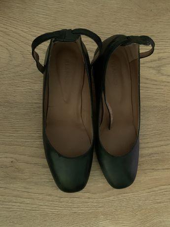кожаные туфли bianco на каблуке