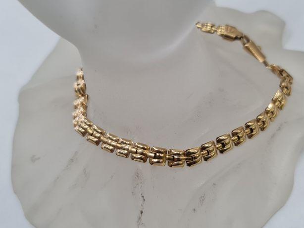 Bardzo kobieca złota bransoletka damska/ 750/ 7.64 gram/ 20.5 cm