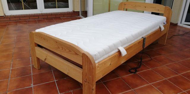 Łóżko drewniane sosnowe materac 100x200 stelaż góralskie stylowe łoże