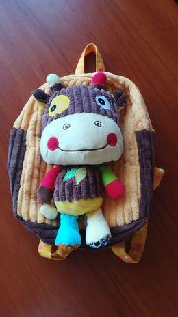 Plecak sozzy krówka jak nowy do przedszkola żłobka