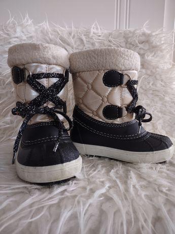 Buty dziecięce zimowe wysokie