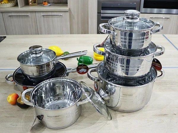 Бесплатная доставка .Набор посуды Swiss Family 12 предметов SF-1225 M