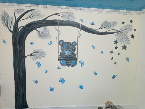 Заказ художник розпись стени, барельеф
