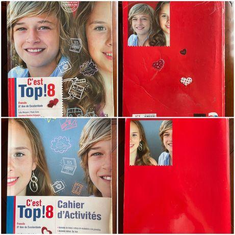 """Manual Francês 8° ano """" C'est Top! 8 """""""