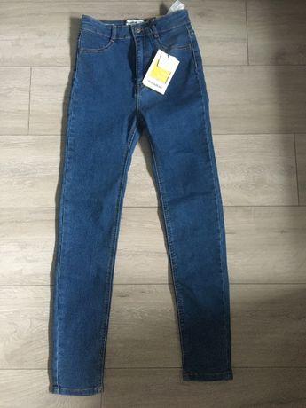 Bershka jeans dżinsy nowe z metką stan idealny S 36 wysoki stan