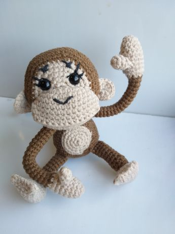 Вязанная обезьянка Ручная работа Мягкая игрушка