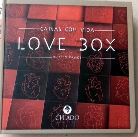 Livro capa dura LOVE BOX de Ricardo Passos NOVO