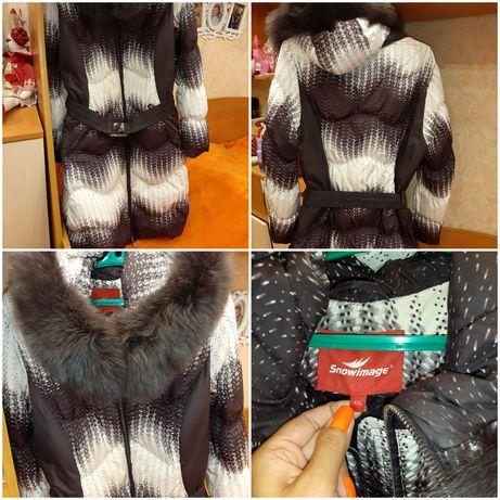 Зимний пуховик пальто куртка 48-50