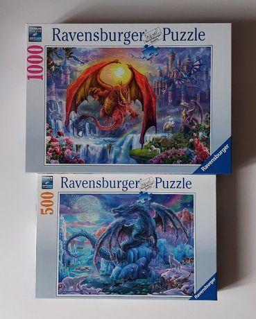 Puzzle Ravensburger Smoki 2 pudełka (Nowe)