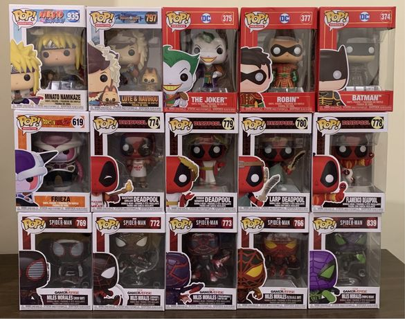 Funko pop dragonball deadpool batman spiderman naruto star wars