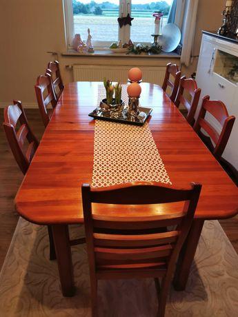 Stół drewniany +8 krzeseł