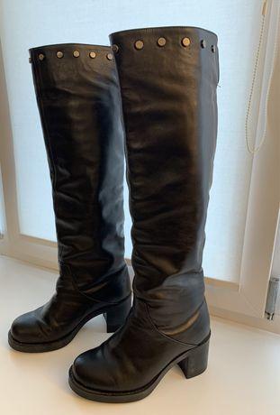 Кожанные зимние сапоги, 36 размер (23 см)