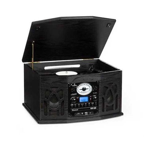 Gramofon Retro Zestaw stereo USB CD FM + Pilot