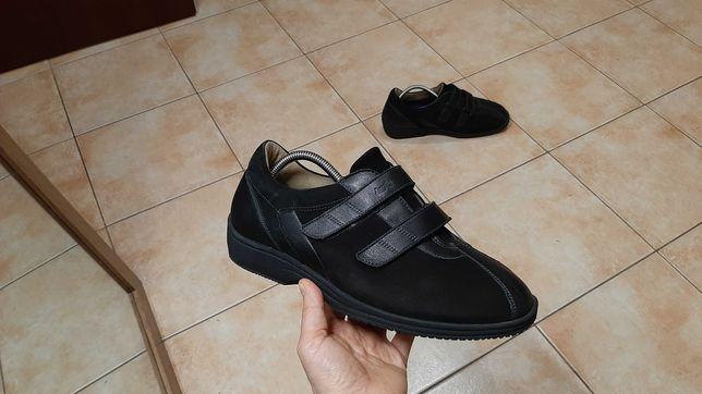 41р,стелька26,5см,Ортопедические кожаные туфли,ботинки lucro by schei