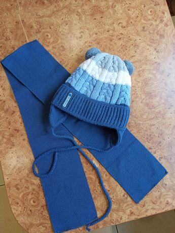 Зимняя шапочка с шарфиком!