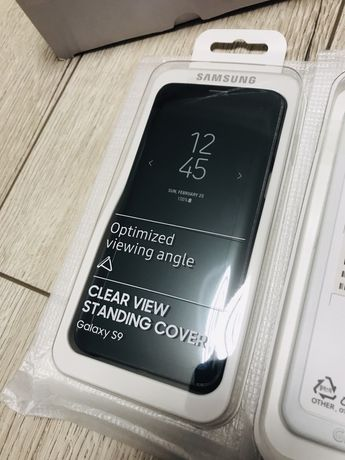 Акция! Оригинальный чехол Samsung Galaxy s9 Clear View Standing Cover