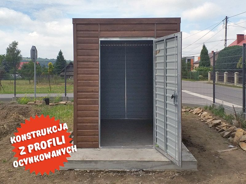 Altana blaszana garaż 2x3 schowek blaszany imitacja drewna PRODUCENT Dąbrowa Górnicza - image 1