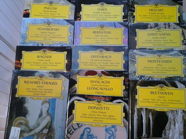 Colecção Grandes Óperas Deutsche Grammophon - Livro + CD's (novos!)