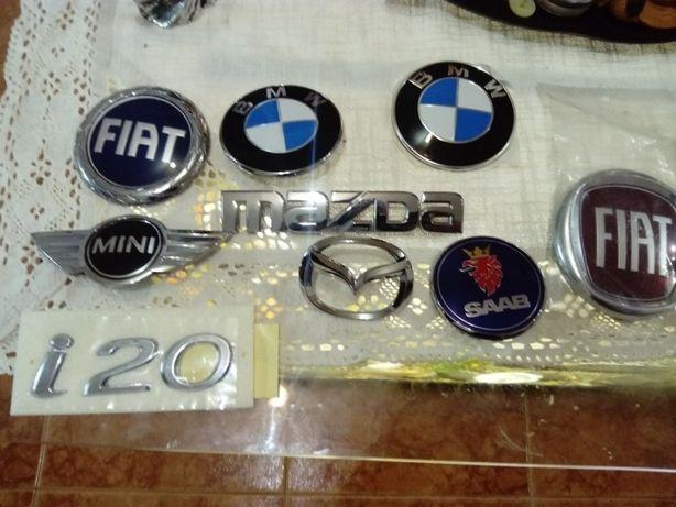 Símbolos de várias marcas