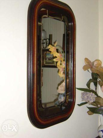 Espelho lapidado - moldura madeira