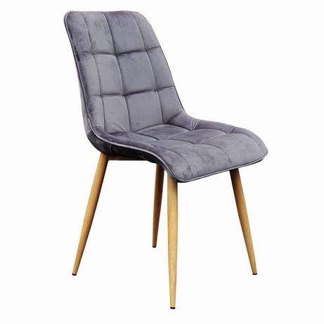 Krzesło Chic Kwadrat 7098 w Skandynawskim Stylu Tkanina VELVET
