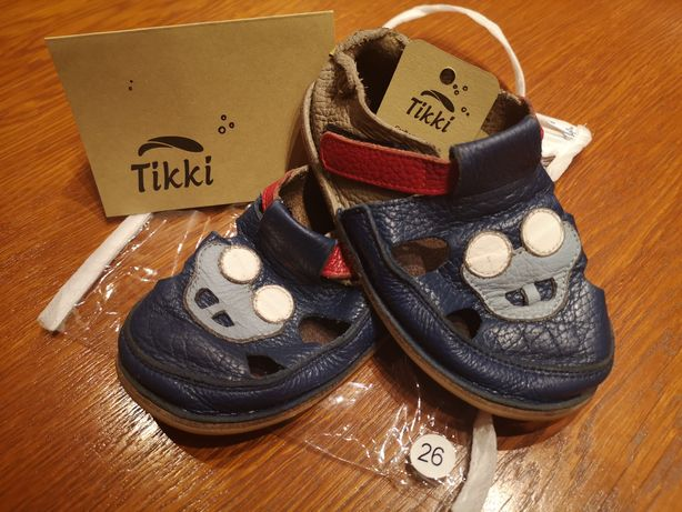 Sandałki skórzane TIKKI r. 26, 16,3cm barefoot Bosa Stópka dla chłopca