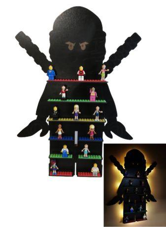 Półka podświetlana LED na ludziki FIGURKI LEGO ninjago+ GRATIS IMIĘ !!