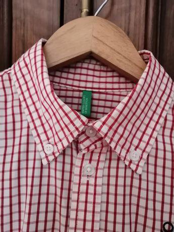 Camisa em xadrez vermelho, Benetton