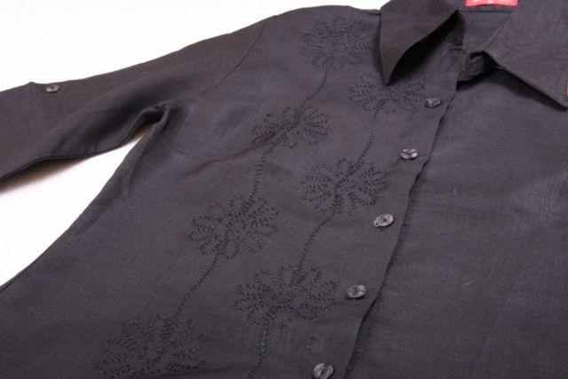 lniana czarna bluzka z butiku M/38