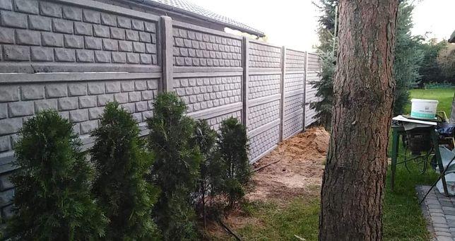 Montaż ogrodzeń betonowych
