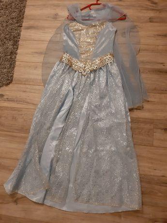 strój karnawałowy kostium księżniczka Elsa kraina lodu 12/14 roz. M/L