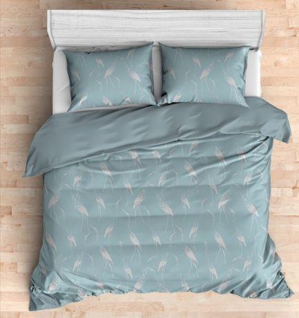 Pościel home & you turkusowa bawełna satynowa 200x220