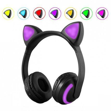 Bluetooth наушники с кошачьими ушками. Хит 2020 года.7 цветов