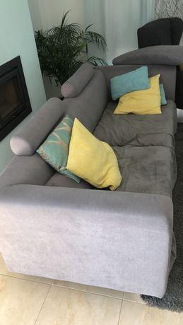 Sofá cinzento - bem estimado